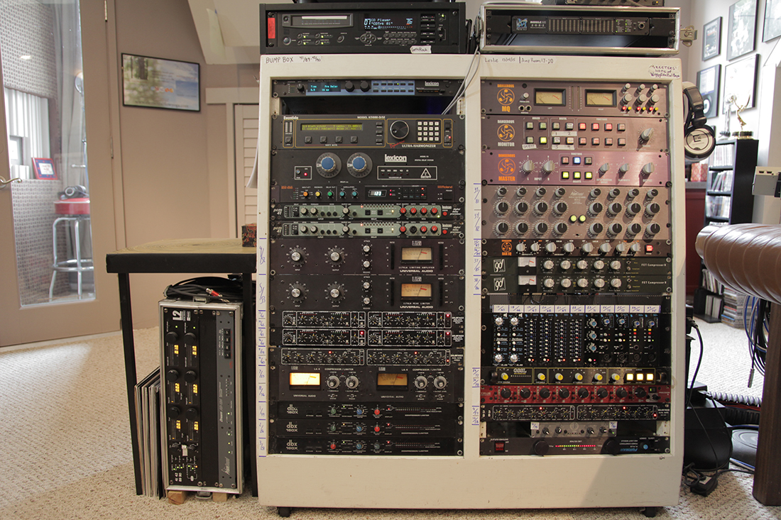 Rack of Vibe and Vocal Booth, Recording, Gear